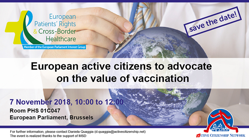 active citizens in europe advocate for vaccination 7th november save the date